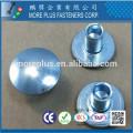 Made in Taiwan Carbon Steel C1006 Zinc Plated CR6+ Wax Oval Head Decorative Semi Tubular Rivets