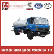 Dongfeng 4x2 9000L Vacuum Sewage Suction Tanker Truck