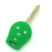 Logo Nissan 4 buttons silicone key case