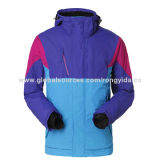 Men's Ski Jacket with Fleece Inner, OEM and ODM Designs Available, Contrast ColorNew