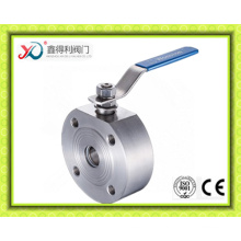 Short Pattern Stainless Steel Wafer Type Ball Valve Pn40