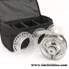 Vente en gros Cassette Fly Reel Combo avec 3 Spool Plastic Spool