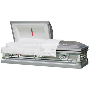 in Honor Stainless Steel USA Style Casket