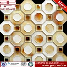 Polígono moda diseño acrílico mosaico vidrio azulejos en la decoración de la habitación