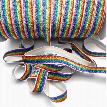 Горячие Продажа глиттер эластичная лента для повязки