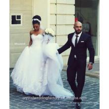 Design de charme vestido de noivaTop Robe de mariée en cristal de luxe Robes de mariée en dentelle nuptiale CWF2358