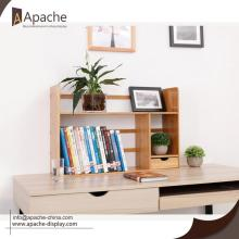 China Factories for Wooden Displays Exquisite Tabletop Bamboo Book Shelf export to Poland Exporter