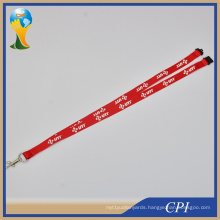 Polyester Custom Red Promotion Printed Lanyard with Carbine Hook