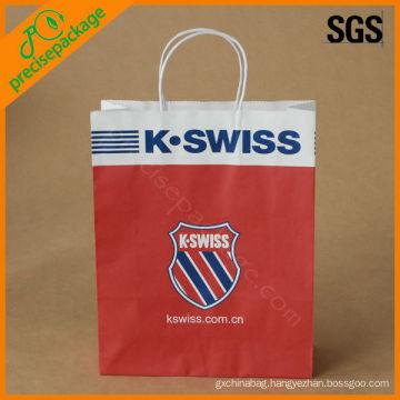 promotional hot sale fashion printed white kraft paper bag paper kraft bag