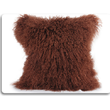 Luxury Cheap Decorative Mongolian Fur Pillow Case Cover