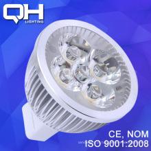 Spot de alumínio LED 12V luz 4 * 1w Gx5.3