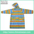 Yj-6206 Toddler Girl Colorful Hooded Long Raincoat Women′s Rain Slicker