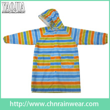 Yj-6206 Chuva Criança Colorido Capuz Raincoat Longo Mulher Rain Slicker