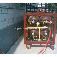 Rack de cilindro de aço sem costura 50L, rack de cilindro de gás CNG