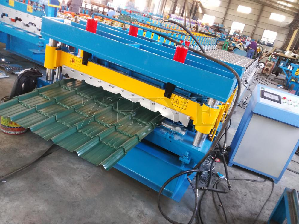 PPGI Zhiye Glazed Tile Sheet Membuat Mesin CNC
