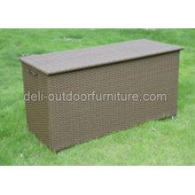 Boîte en aluminium Multi fonctionnel rotin stockage extérieur