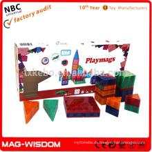 Playmags neue magnetische Gebäude Fliesenblöcke 3D Spielzeug 92pcs Sets