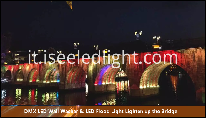 wall washer flood light lighten up the bridge hole