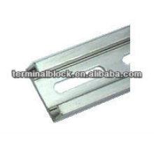 TS-001 Para bloco de terminais de plástico Trilho de alumínio metálico de alumínio de 25mm