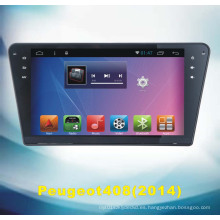 Sistema Android Tracker GPS para Peugeot 408 con reproductor de DVD de coche