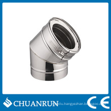 15/30/45 Degree Double Wall Elbow Pipe for Pellet Stoves