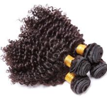 Reales jungfräuliches mongolisches Großhandelsverrunzelnes lockiges Haar