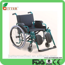 deluxe steel wheelchair with wheelbarrow function