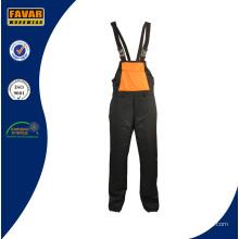 Workwear Men′s Bib Hose mit Taschen auf der Werks-Seiten