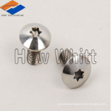 Gr5 titanium mushroom head screw