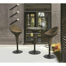 Outdoor Rattan Wicker Modern Einstellbare Kneipe Swivel Bar Set