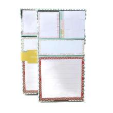 Cuaderno pegajoso de encargo de la cubierta dura en forma a granel al por mayor, Memo Pad pegajoso