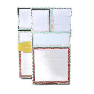 Carnet de notes autocollantes personnalisées à couverture rigide en gros en forme de couverture dure, bloc-notes collant
