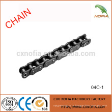 Short pitch stainless steel roller chains 04C-1
