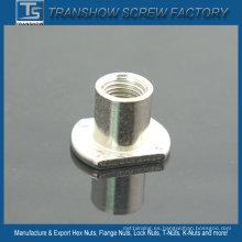 Tuercas modificadas para requisitos particulares del acero de carbono plateado niquel