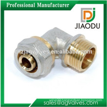 china manufacturer competitive price best sale 90 degree male threaded brass elbow for pex-al pipe fitting