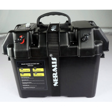Electric Trolling Motor Smart Battery Box Power Center Black