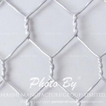 Malla de alambre hexagonal galvanizada sumergida en frío