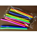 Custom Party Disposable Individually Wrapped Flexible Plastic Drinking Straws