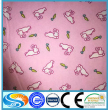 ¡Estilo caliente 2015! Tela 100% algodón / tc flanela rosa al por mayor de franela de algodón impresa para bebé niños paño / pijama / sábanas