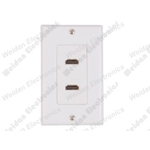 2 X HDMI Wallplate, 115*70mm, Decorasty