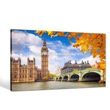 Impresión de la foto de Big Ben / arte de la lona del paisaje de Gran Bretaña / arte de la pared del paisaje urbano de Londres