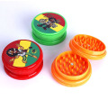 3 Schicht Candy-Colored Plastic Portable Tabak Smoke Grinder