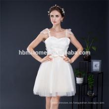 Dulce Princesa Floral elegante correa de espagueti damas de honor vestido de novia de las muchachas vestido de fiesta de cumpleaños vestido de fiesta de noche