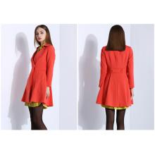 New Design Women Clothes Long Ladies Cotton Coat