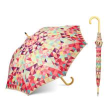L'Oreal fábrica certificada 23 polegada Barato personalizado Reta madeira guarda-chuva