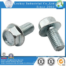 Grade 2 Hexagon Flange Bolt Steel Zinc Plated