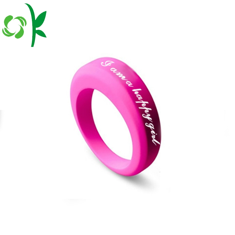 Pink Silicone Wedding Ring