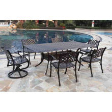 Metal Patio Garden Outdoor Furniture Cast Aluminium Dining Set