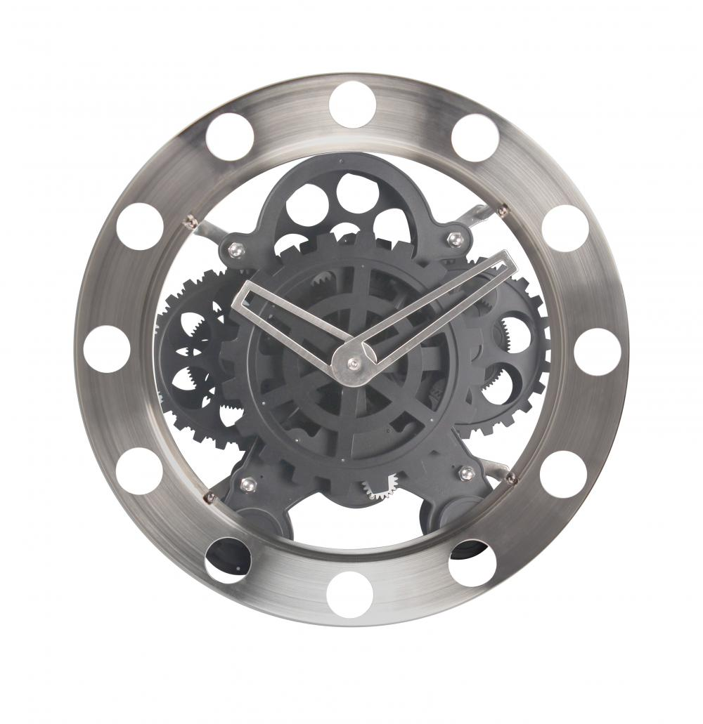 Reloj de pared redondo de acero inoxidable