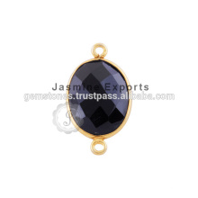 Vermeil Gold Gemstone Bezel Connectors Wholesale